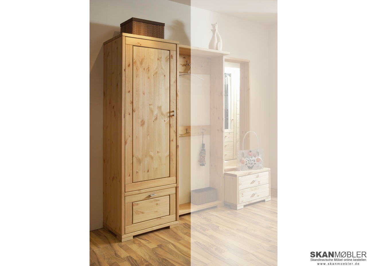 dielenschrank guldborg massivholz von pinus g nstig bestellen bei skanm bler. Black Bedroom Furniture Sets. Home Design Ideas