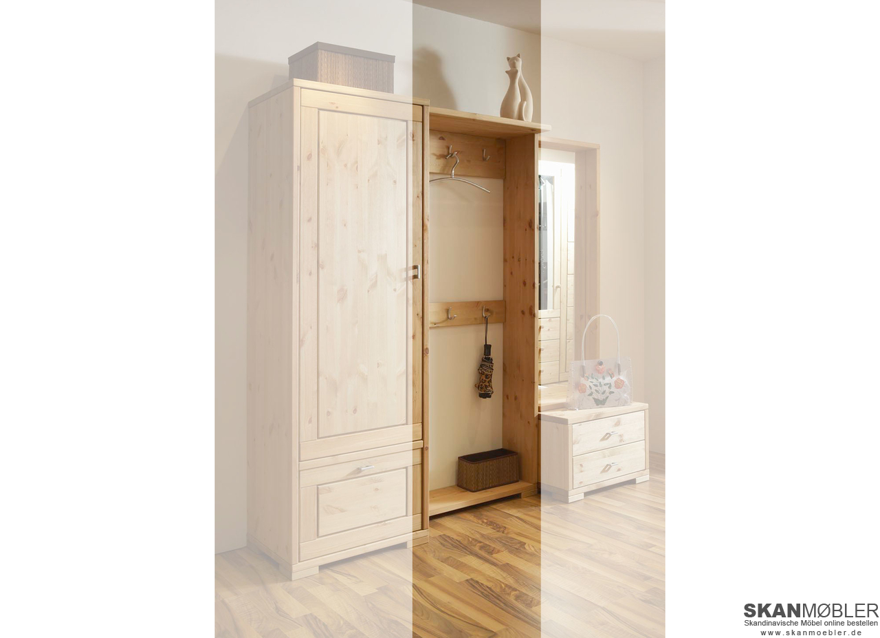 garderobe wandpanel guldborg von pinus g nstig bestellen. Black Bedroom Furniture Sets. Home Design Ideas
