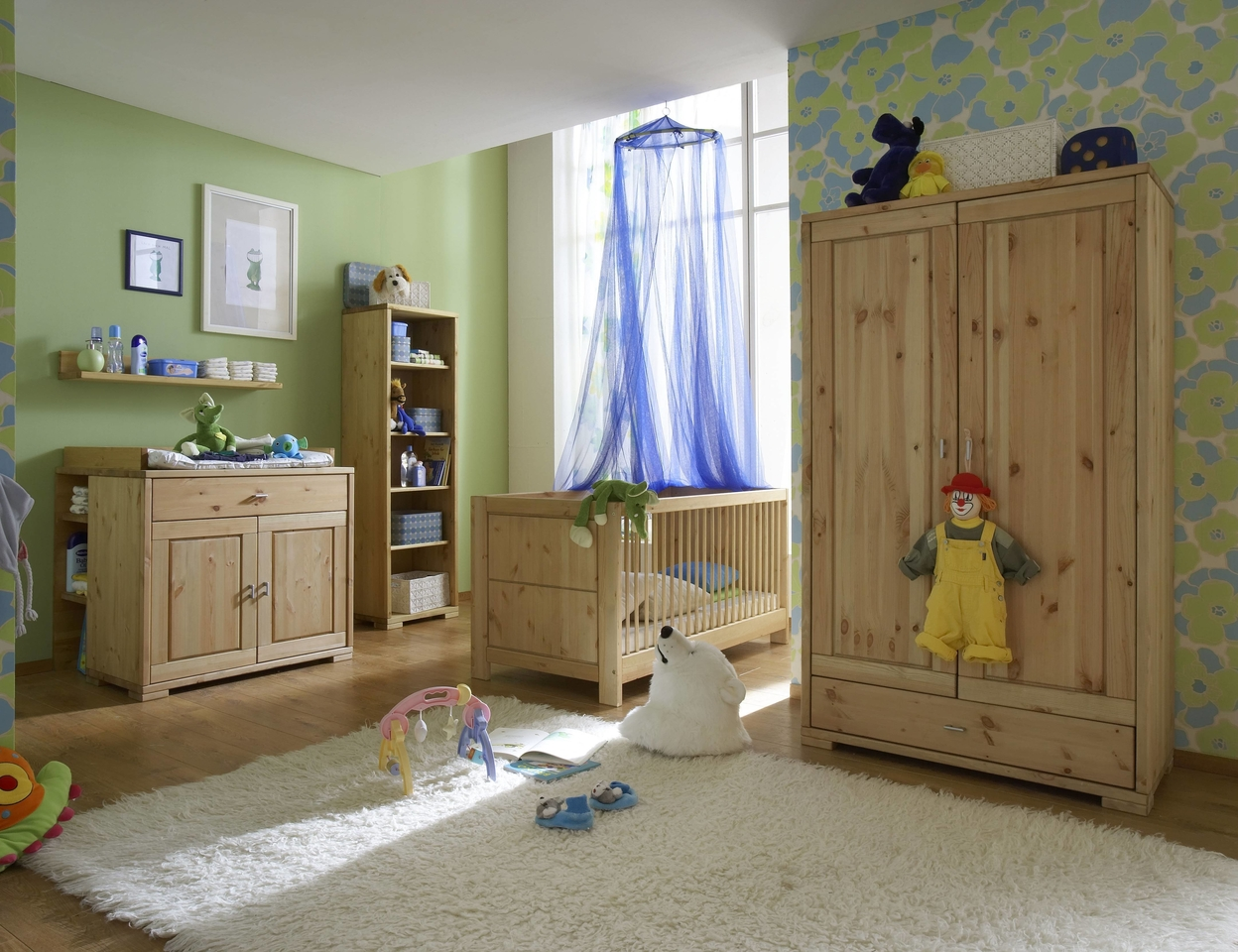 kinderzimmer guldborg kiefer massiv gelaugt ge lt von. Black Bedroom Furniture Sets. Home Design Ideas
