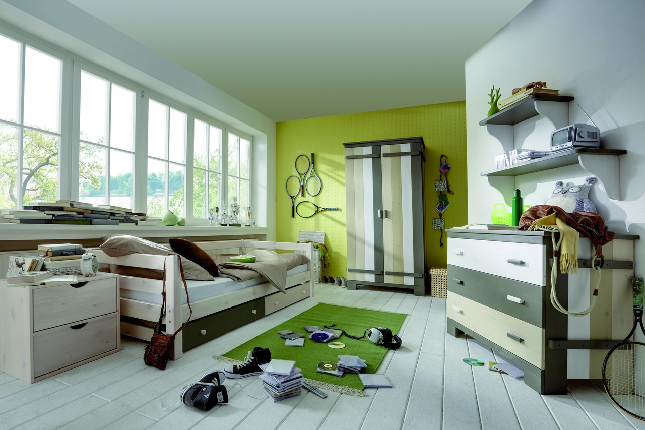 kinderzimmer kleiderschrank merlin multicolor von infans. Black Bedroom Furniture Sets. Home Design Ideas