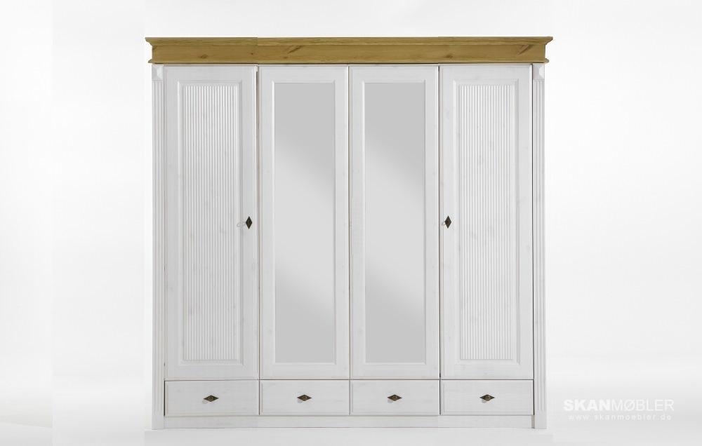 kleiderschrank 4 t rig eva dora mit spiegel von jumek g nstig bestellen bei skanm bler. Black Bedroom Furniture Sets. Home Design Ideas