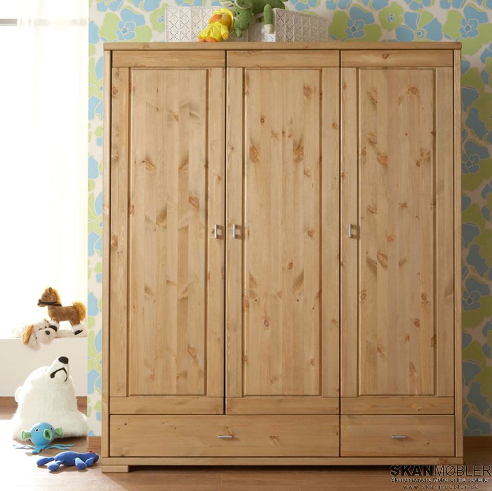 kleiderschrank f r kinderzimmer babyzimmer guldborg von. Black Bedroom Furniture Sets. Home Design Ideas
