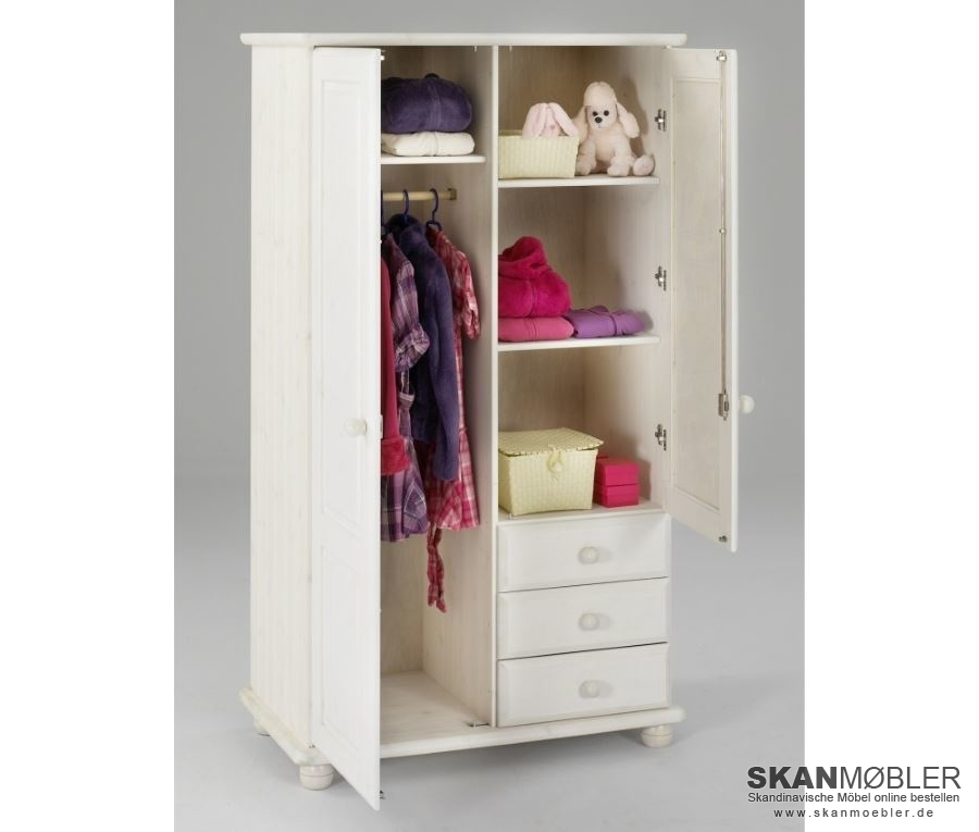 kleiderschrank mit spiegel 2 t rig gotland von dolphin g nstig bestellen bei skanm bler. Black Bedroom Furniture Sets. Home Design Ideas
